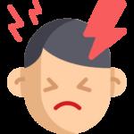 Illustration av man som är bakfull och arg