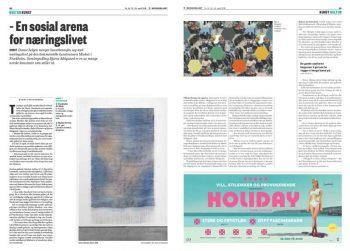 Uppslag i Morgenbladet om Carl Sundevall som vd för Market Art Fair